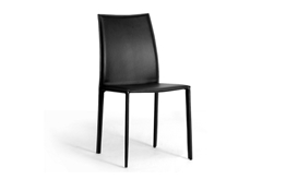 Baxton Studio Rockford Black Leather Dining Chair (Set of 2) Rockford Black Leather Dining Chair wholesale, wholesale furniture, restaurant furniture, hotel furniture, commercial furniture