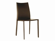 Baxton Studio Rockford Brown Leather Dining Chair (Set of 2) Rockford Brown Leather Dining Chair wholesale, wholesale furniture, restaurant furniture, hotel furniture, commercial furniture