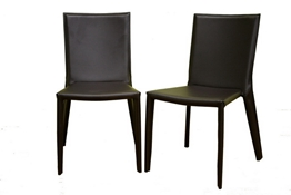 Baxton Studio Semele Dark Brown Leather Dining Chair Set of Two Semele Dark Brown Leather Dining Chair Set of Two wholesale, wholesale furniture, restaurant furniture, hotel furniture, commercial furniture
