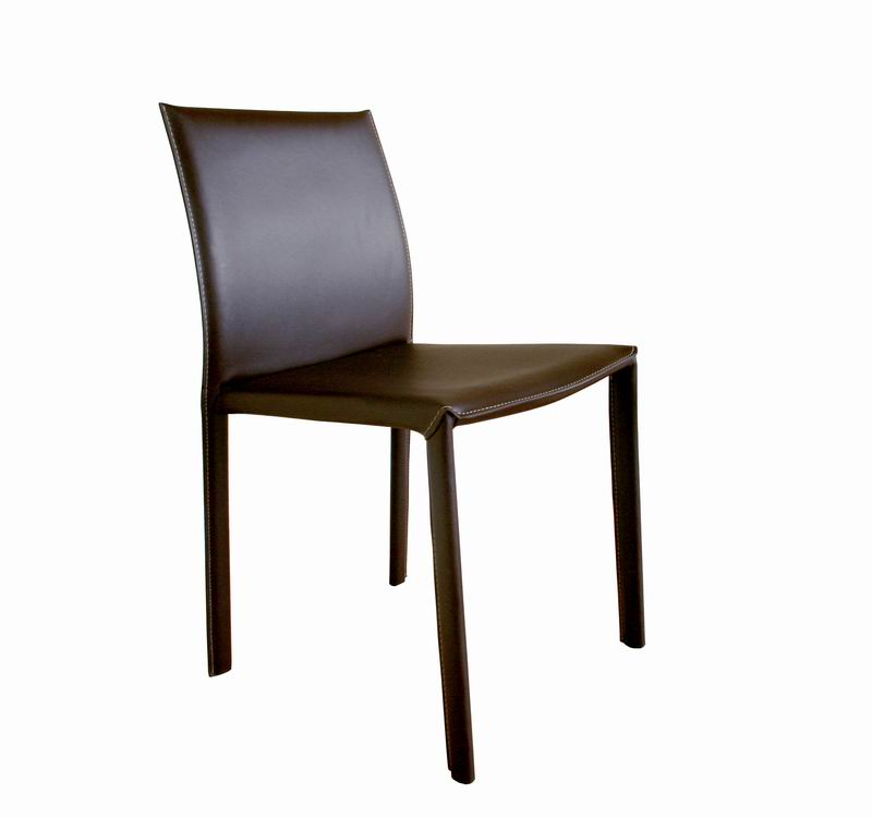 Brown burridge leather dining chair wholesale interiors
