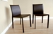 Baxton Studio Brown Burridge Leather Dining Chair (Set of 2) - ALC-1822 Brown