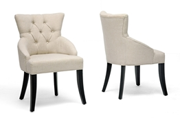 Baxton Studio Halifax Beige Linen Dining Chair (Set of 2) Halifax Beige Linen Dining Chair (Set of 2) wholesale, wholesale furniture, restaurant furniture, hotel furniture, commercial furniture