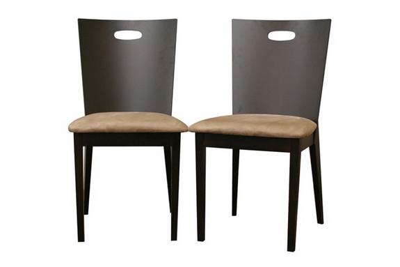 lamar dark brown modern dining chair set of 2