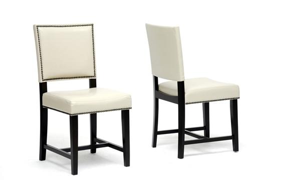 baxton studio nottingham cream modern dining chair set of
