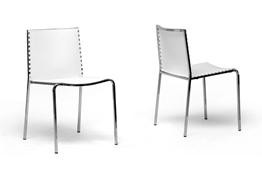 Baxton Studio Gridley White Plastic Modern Dining Chair (Set of 2) Gridley White Plastic Modern Dining Chair (Set of 2) wholesale, wholesale furniture, restaurant furniture, hotel furniture, commercial furniture