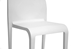 Baxton Studio Blanche Modern White Molded Plastic Dining Chair Set of 2 - DC-42-White