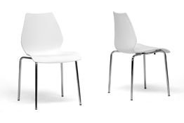 Baxton Studio Overlea White Plastic Modern Dining Chair (Set of 2) Overlea White Plastic Modern Dining Chair (Set of 2) wholesale, wholesale furniture, restaurant furniture, hotel furniture, commercial furniture