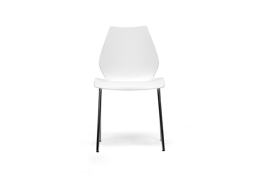 Amazing Overlea White Plastic Modern Dining Chair Set Of 2 Creativecarmelina Interior Chair Design Creativecarmelinacom