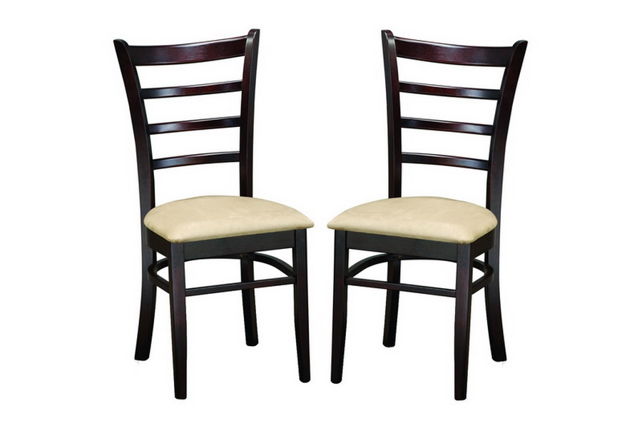 lanark dark brown modern dining chair set of 2