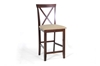 Wholesale Interiors Baxton Studio Natalie Brown Wood Modern Counter Stool (Set of 2)
