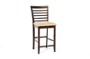 Wholesale Interiors Baxton Studio Kelsey Brown Wood Modern Counter Stool (Set of 2)