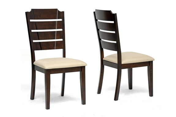 baxton studio victoria brown wood modern dining chair set of 2