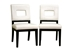 Baxton Studio Faustino Cream Leather Dining Chair Set of 2 - Y-765-155