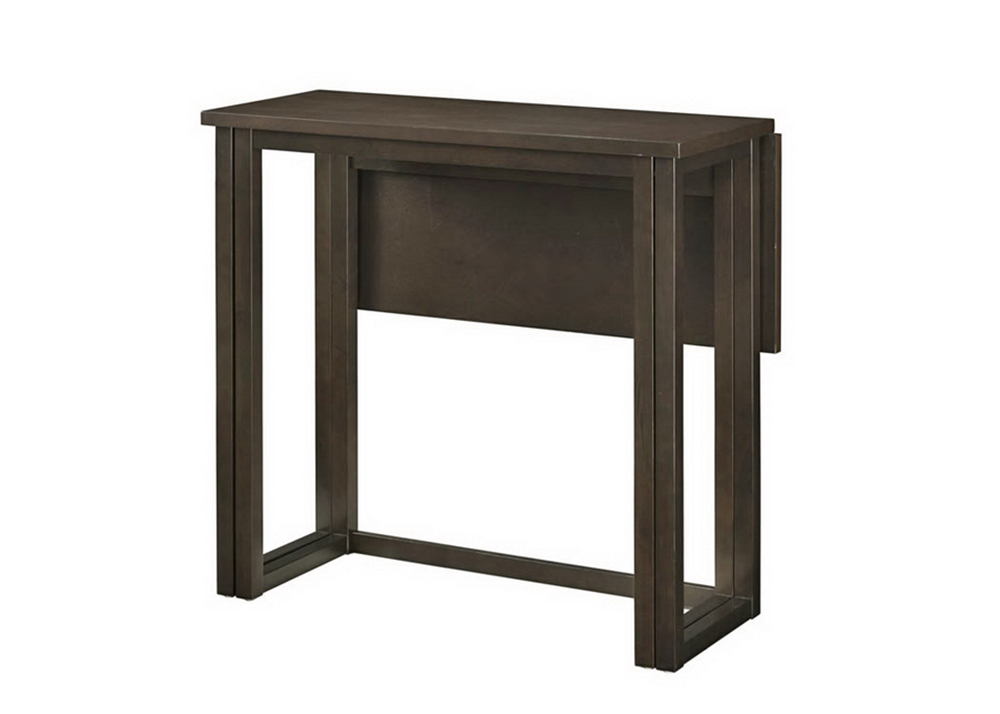 Leeds Brown Wood Collapsible Pub Table Set | Wholesale Interiors
