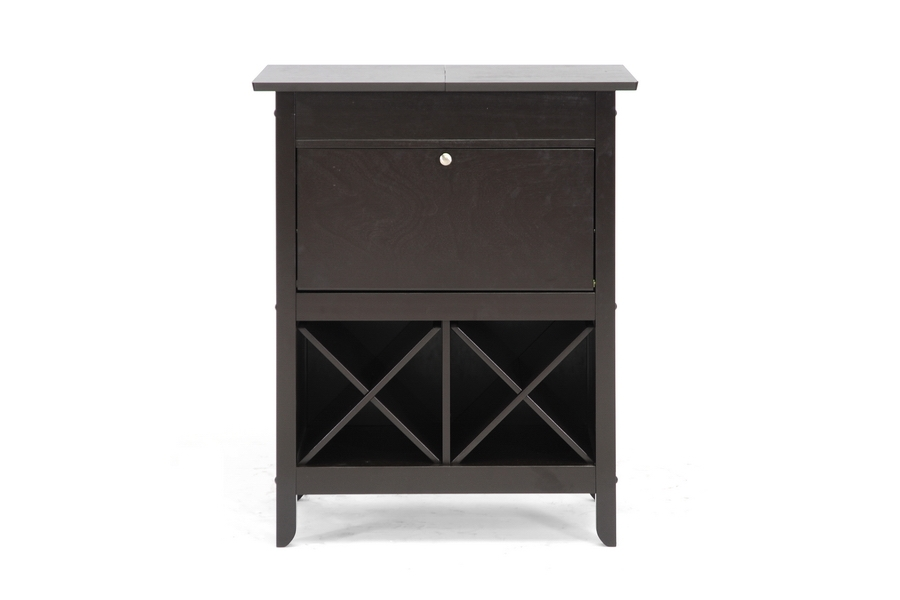 Modesto Brown Modern Dry Bar and Wine Cabinet | Wholesale Interiors