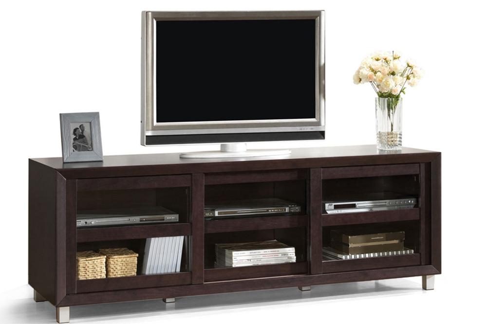 Baxton Studio Pacini Dark Brown Modern Tv Stand Wholesale Interiors