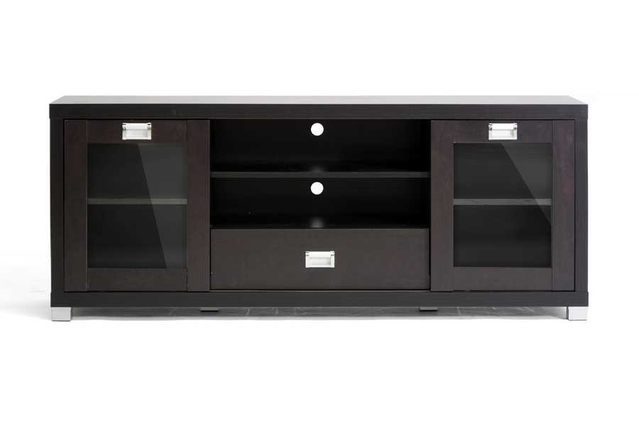 Matlock Modern Tv Stand With Glass Doors Wholesale Interiors