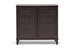 Glidden Dark Brown Wood Modern Shoe Cabinet (Short) - FP-1201