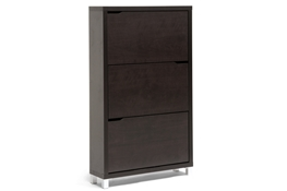 Simms Dark Brown Modern Shoe Cabinet Baxton Studio Simms Dark Brown Modern Shoe Cabinet, wholesale furniture, restaurant furniture, hotel furniture, commercial furniture