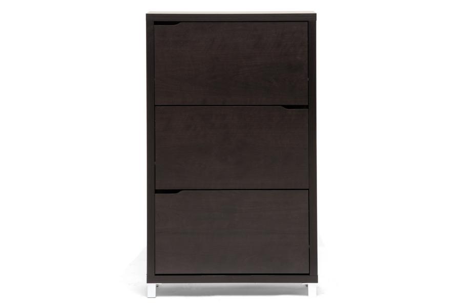... Simms Dark Brown Modern Shoe Cabinet   FP 3OUSH CAPPUCINO ...