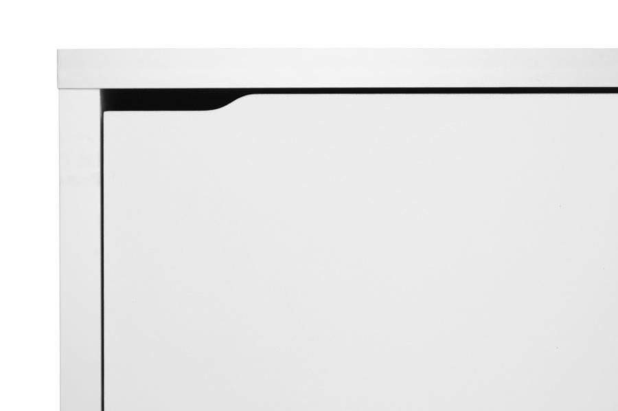 ... Baxton Studio Simms White Modern Shoe Cabinet   FP 3OUSH WHITE
