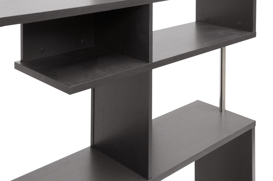 Baxton Studio Kessler Dark Brown Modern Bookshelf