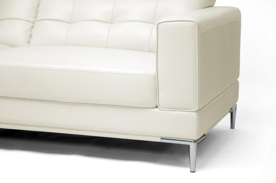 Marvelous Babbitt Ivory Leather Modern Sectional Sofa Wholesale Short Links Chair Design For Home Short Linksinfo