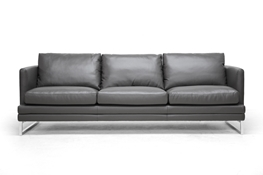 Baxton Studio Dakota Pewter Gray Leather Modern Sofa Baxton Studio Dakota Pewter Gray Leather Modern Sofa, wholesale furniture, restaurant furniture, hotel furniture, commercial furniture