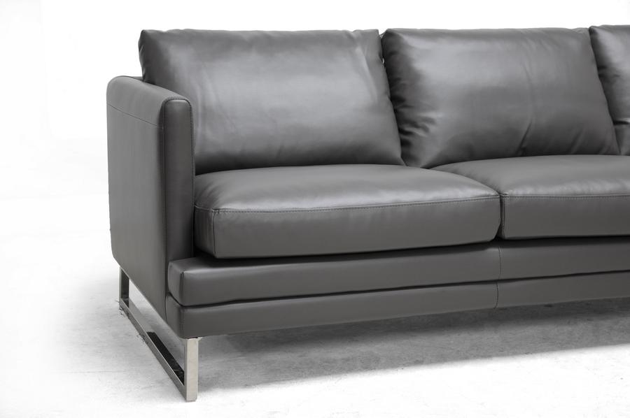 Superieur ... Baxton Studio Dakota Pewter Gray Leather Modern Sofa   1378 DU8145 SF  ...