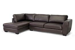 Baxton Studio Orland Brown Leather Modern Sectional Sofa Set with Left Facing Chaise Baxton Studio Orland Brown Leather Modern Sectional Sofa Set with Left Facing Chaise, wholesale furniture, restaurant furniture, hotel furniture, commercial furniture
