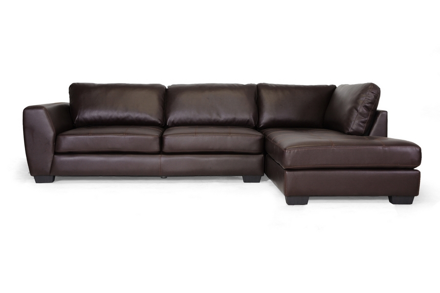 Baxton Studio Orland Brown Leather Modern Sectional Sofa  : IDS023 SEC20RFC20Brown1 from www.wholesale-interiors.com size 1000 x 666 jpeg 143kB