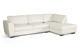 Baxton Studio Orland White Leather Modern Sectional Sofa Set with Right Facing Chaise Baxton Studio Orland White Leather Modern Sectional Sofa Set with Right Facing Chaise, wholesale furniture, restaurant furniture, hotel furniture, commercial furniture