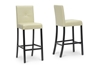 Wholesale Interiors Baxton Studio Curtis Cream Modern Bar Stool (Set of 2)