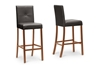 Wholesale Interiors Baxton Studio Curtis Dark Brown Modern Bar Stool (Set of 2)