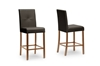 Wholesale Interiors Baxton Studio Curtis Dark Brown Modern Counter Stool (Set of 4)