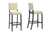 Wholesale Interiors Baxton Studio Walter Cream Modern Bar Stool (Set of 2)