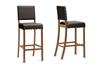 Wholesale Interiors Baxton Studio Walter Dark Brown Modern Bar Stool (Set of 4)