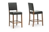 Wholesale Interiors Baxton Studio Walter Dark Brown Modern Counter Stool (Set of 2)