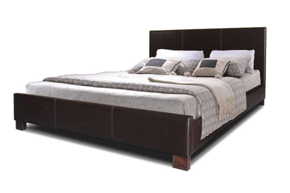 Baxton Studio Pless Dark Brown Modern Bed Full Size