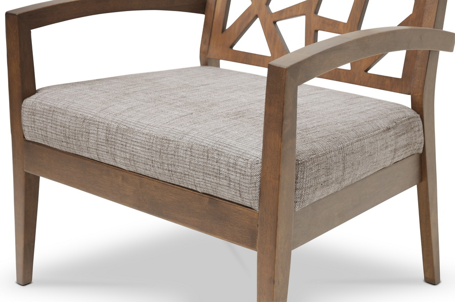 Baxton Studio Jennifer Modern Lounge Chair With Grey