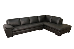 Baxton Studio Black Sofa/Chaise Sectional Black Sofa/Chaise Sectional wholesale, wholesale furniture, restaurant furniture, hotel furniture, commercial furniture