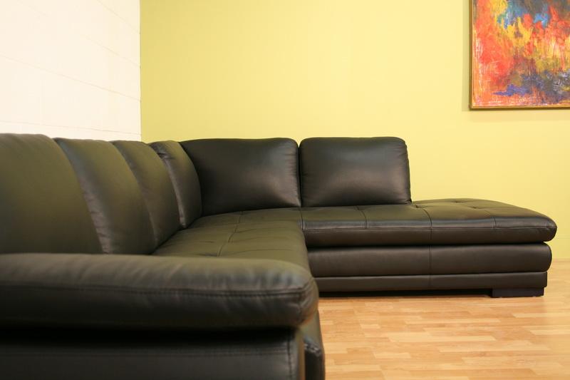Merveilleux ... Baxton Studio Black Sofa/Chaise Sectional   625 M9812 Sofa/lying ...