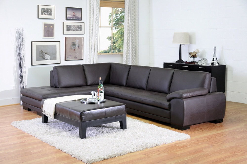 Outstanding Diana Dark Brown Sofa Chaise Sectional Reverse Wholesale Gmtry Best Dining Table And Chair Ideas Images Gmtryco