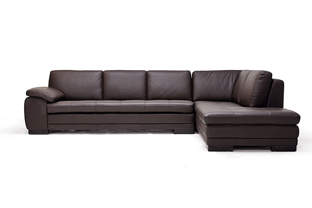 Diana Dark Brown Sofa/Chaise Sectional   Wholesale Interiors