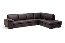 Baxton Studio Diana Dark Brown Sofa/Chaise Sectional Diana Dark Brown Sofa/Chaise Sectional wholesale, wholesale furniture, sleek sofa