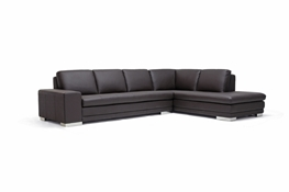 Baxton Studio Callidora Dark Brown Leather-Leather Match Sofa Sectional Callidora Dark Brown Leather-Leather Match Sofa Sectional wholesale, wholesale furniture, restaurant furniture, hotel furniture, commercial furniture