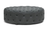 Wholesale Interiors Baxton Studio Cardiff Dark Gray Linen Modern Tufted Ottoman