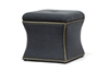 Wholesale Interiors Baxton Studio Shrewsbury Dark Gray Linen Modern Ottoman
