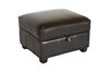 Wholesale Interiors Baxton Studio Agustus Brown Leather Storage Ottoman