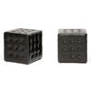 Wholesale Interiors Baxton Studio Siskal Dark Brown Modern Cube Ottoman (Set of 2)